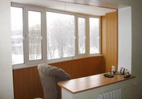 совмещение балкона с комнатой фото