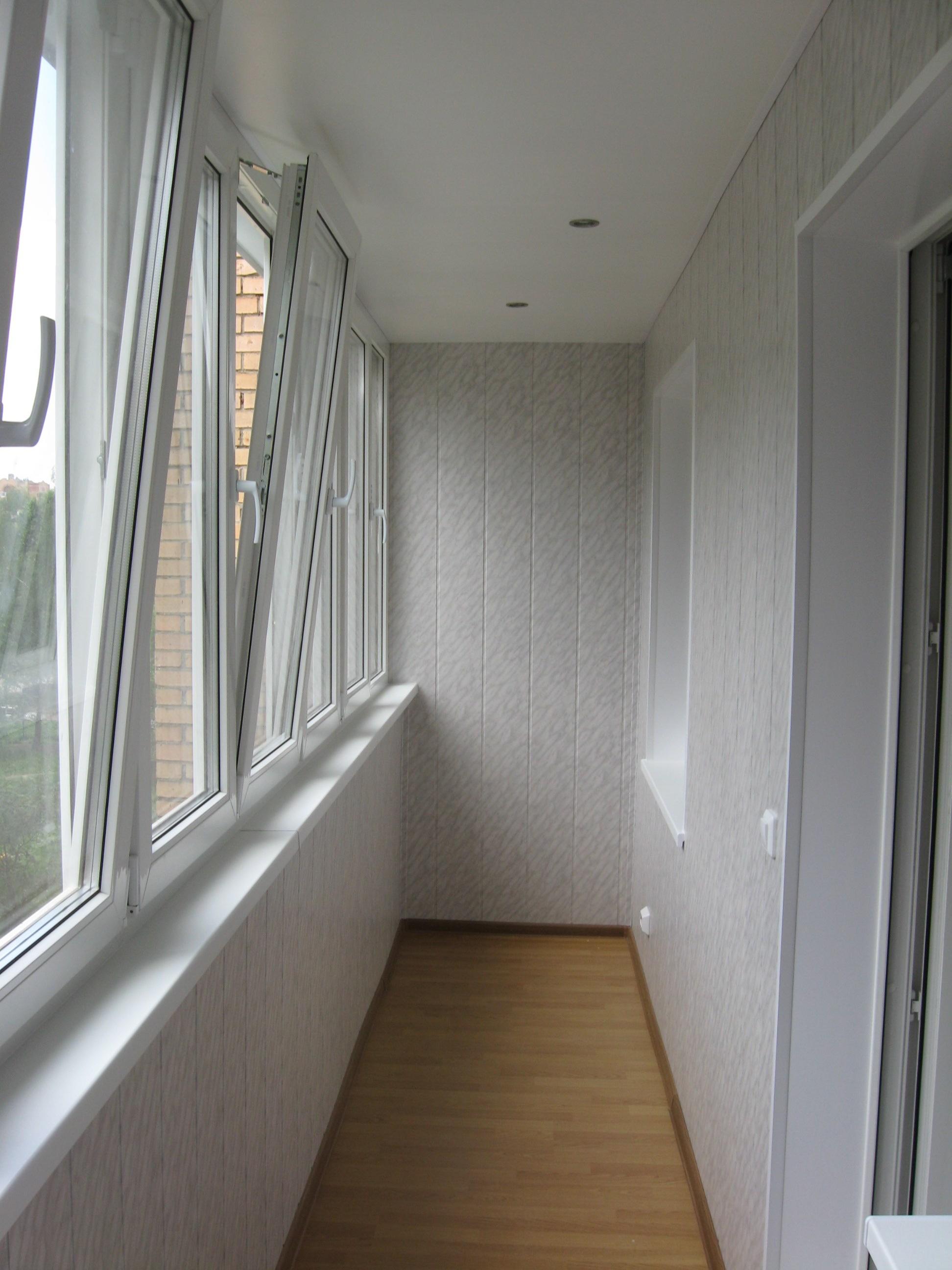 Обшивка балконов и лоджий панелями мдф, фото, видео, цены.