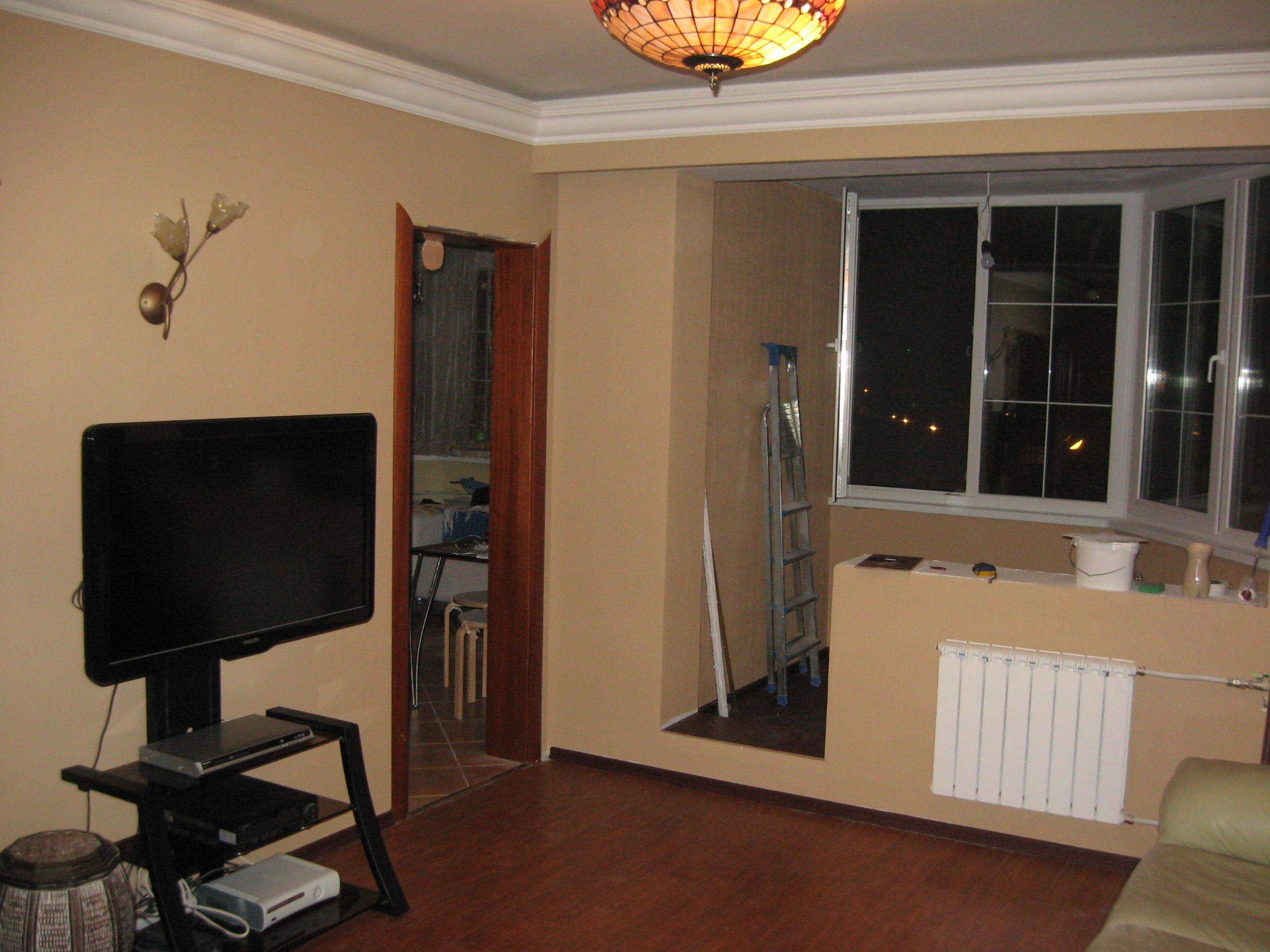 Оформление балкона в однокомнатной квартире дома п44т..